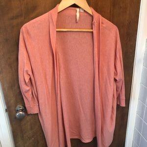 Pure Jill Dusty Peach long cardigan XS/S